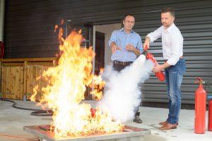 Обучение за работа с пожарогасители